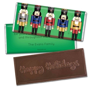 Personalized Holiday Candy Bar - Nutcrackers