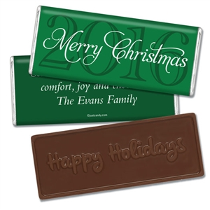 Personalized Holiday Candy Bar - Annual Christmas