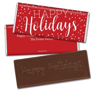 Personalized Holiday Candy Bar - Pop the Cork