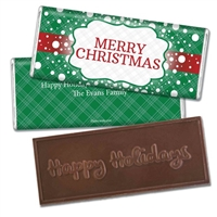 Personalized Holiday Candy Bar - Let it Snow