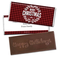 Personalized Holiday Candy Bar - Festively Flannel