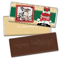Personalized Holiday Candy Bar - Doggie Tree