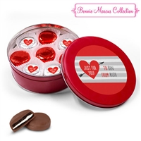 Personalized Valentine's Day Tin, 16 Chocolate Covered Oreos