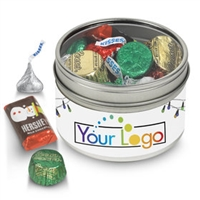 Your Logo Hershey's Candy Holiday Gift Tin