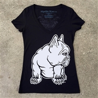 Womens French Bulldog Fitted T-Shirt