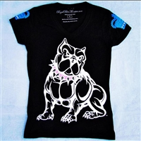 Womens bully T-shirt - Pink Spike Collar