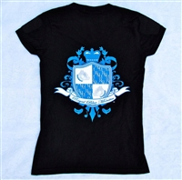 Womens Fitted T-Shirt w/ Royal Blue Monter logo