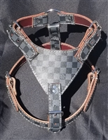 Black checker harness