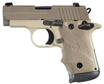 "Sig Sauer P238 Desert Tan Night Sights 2.7"" Barrel 6+1 .380ACP"