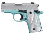 Sig Sauer P238 Robin's Egg Blue w/ Night Sights .380ACP 238-380-REB