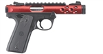 "Ruger Mark IV 22/45 Lite Red Anodized 4.4"" 22LR 43910"