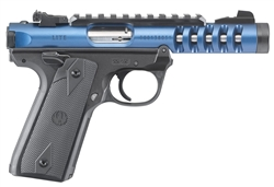 "Ruger Mark IV 22/45 Lite Blue 4.4"" 22LR 43924"
