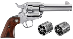 "Ruger Vaquero 4-5/8"" Stainless Combo .45LC + .45ACP 5144"