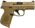 FNH USA: FNS Compact FDE 9mm No Thumb Safety 67993