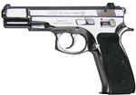 CZ 75B Polished Stainless Steel 9mm (16+1) w/ Safety 91108