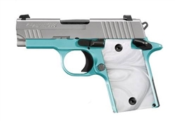 "Sig Sauer P938 Robin's Egg Blue Night Sights 3"" Nitron 6+1 9mm 938-9-REB-AMBI"
