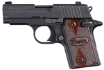 "Sig Sauer P938 Rosewood Grips Night Sights 3"" Nitron 6+1 9mm"