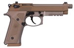 Beretta M9A3 FDE: Threaded Barrel Vertec Grip 9mm, J92M9A3M