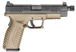 "Springfield XD(M) 4.5"" FDE Threaded Barrel 13+1 .45ACP XDMT94545FDEHCE"