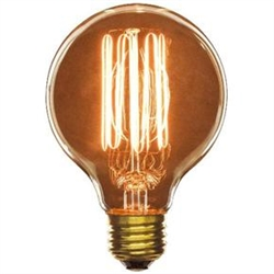 60G25 60 Watt Antique Vintage Style G25 E26 Base,60 Watt Antique Vintage Style G25, Medium Base, Smoke,#02033-SU, Antique Replica light bulb