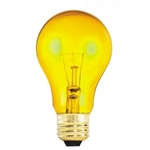 25A19/TRANSPARENTYELLOW/130V 25 Watt Yellow A19 E26 Base, 25A19/TY, 25 Watt A19 Transparent Yellow, Yellow Colored A19, Tyellow A19, 25A19/TY, 25A19-TY