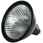 EXN/FG/BLACK (50W/12V) FLOOD BLACK BACK MR16 WITH LENSE