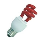 PL11SE/RED/120V RED COIL LIGHT E26 BASE, P11SE/RED COIL LIGHT, 11 WATT RED CFL COIL LIGHT, RED CFL, RED COILLIGHT, RED SPIRAL FLUORESCENT, RED COMPACT FLUORESCENT, COLORED FLUORESCENT