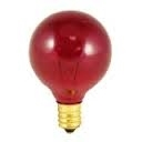 5G-9 1/2/C/24 Volt Transparent Red Globe E12 Base, 5G-9 1/2 C 24V TR, G9 1/2 24V 5W E12 Red,5G9-1/2-C-24V/Red-I, 5G-9 1/2 C 24V Transparent Red, 5 Watt G9-1/2 Red Globe 24 Volt Candelabra Base