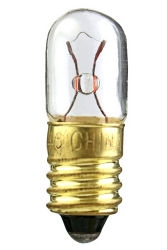 #1823 Miniature Bulb E10 Base, T3 1/4 M Screw 48V .1A 3.2CP, #1823 Miniature, #1823, 1823, #1823 Miniature Lamp, #1823 Bulb, #1823 Indicator, Eiko #40375