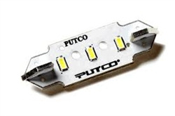 "Putco 231125 - White LED Stick Festoon Bulb 1.25"", Putco® #231125, LED 1.25"" Festoon, Putco® LED Festoon REPLACEMENT, #231125"