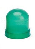 Green Colored Bulb Cover For T1-1/4 Wire Terminal Bulbs, autometer covers, silicone boots, colored bulb covers, color filter caps
