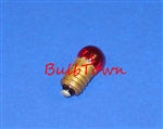 #458R Red Miniature Bulb E10 Base, RED G3 1/2 M SCREW 1.5V .20A .12CP, 458R, Red #458, #458 Red Miniature Lamp, #458R Miniature, #458 Red Bulb, Red #458 Lamp, #458 Red Indicator