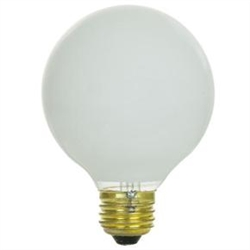 "40G25/WHT/130V/2M 40 WATT 3"" WHITE GLOBE E26 BASE, 40G25/L/24, 40G25/W, 40G25/W/CVP130V, 40G25/W, 40G25/W/RP, 40G25/W/3PK/RP, 40 WATT G25 WHITE GLOBE 130 VOLT MEDIUM BASE, WHITE HOLLYWOOD GLOBES, WHITE VANITY GLOBES"