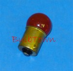 #67NR NATURAL RED MINIATURE BULB BA15S BASE, 67NR, #67NR, #67NR BULB, #67NR LAMP, #67NR MINIATURE, #67NR MINIATURE LAMP, G6 SC BAY 13.5V .59S 4CP-NATURAL RED