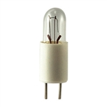 #7371 Miniature Bulb G3.17 Base, T1 3/4 Bipin 12V .04A .12CP, #7371, 7371, #7371 Bulb, #7371 Miniature, #7371 Lamp, #7371 Miniature Lamp, #7371 Indicator, EIKO# 40910
