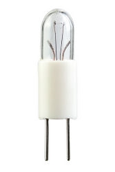 #7381 Miniature Bulb G3.17 Base, #7381 MINIATURE BULB BI-PIN BASE, T1 3/4 BIPIN 6.3V .2A .4CP, #7381, 7381, #7381 BULB, #7381 MINIATURE, #7381 LAMP, #7381 MINIATURE LAMP, #7381 INDICATOR, EIKO#40920