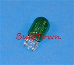 #7440G GREEN MINIATURE BULB GLASS WEDGE BASE, GREEN T6 WEDGE 1/2 12V 21W, 7440G, #7440G, #7440G BULB, #7440G LAMP, #7440 GREEN MINIATURE, #7440 GREEN MINIATURE LAMP, #7440 GREEN INDICATOR