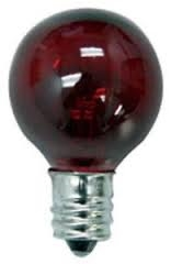 7G8/Transparent Red/130V 7 Watt Red G8 E12 Base, 7G8/TR/130V, 7 WATT TRANSPARENT RED G8 GLOBE 130 VOLT E12 BASE