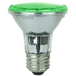Sunlite 80002-SU PAR20/LED/3W/G, - 3 Watt Green LED PAR20 Flood Medium Base, 30,000 Hour, 80002,#80002,80002-SU,#80002-SU