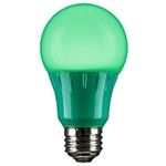 Sunlite 80146-SU A19/3W/G/LED/CD1 3W Green A19 LED 120V,#80146-SU,#80146 LED Bulb