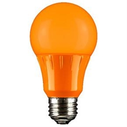 Sunlite 80147-SU A19/3W/O/LED/CD1 3W Orange A19 LED 120V,#80147-SU,#80147 LED Bulb