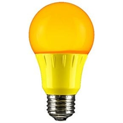 Sunlite 80149-SU A19/3W/Y/LED/CD1 3W Yellow A19 LED 120V,#80149-SU,#80149 LED Bulb