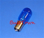 15T7/BLUE/DC/130V 15 WATT BLUE T7 BA15D BASE, 15T7/BLUE/DC CARD, 15T7/BLUE/DC, 15T7DC/BLUE, 15 WATT T7 BLUE DC BASE 130 VOLT