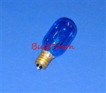 15T7/BLUE/CAN/130V 15 WATT BLUE T7 E12 BASE, 15T7BLUEC, 15T7/BLUE, 15 WATT T7 BLUE CANDELABRA BASE 130 VOLT