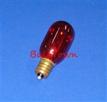 15T7/RED/CAN/130V 15 WATT RED T7 E12 BASE, 15T7REDC, 15T7/RED, 15 WATT T7 RED CANDELABRA BASE 130 VOLT
