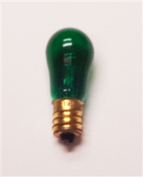 6S6/GREEN/130V MINIATURE BULB E12 BASE, 6S6/G, 6S6-GREEN, 6S6 TRANSPARENT GREEN CANDELABRA BASE 130 VOLT