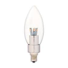 90784 LED 3W TEAR DROP/CL/CAND - DIMMABLE, #90784,90784,DIMMABLE LED BULB,LED B10,LED CTC LIGHT BULB