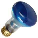 50R20FL/BLUE/130V BLUE R20 FLOOD E26 BASE, 50R20 BLUE, BLUE 50R20FL, 50 WATT BLUE R20 FLOOD MEDIUM BASE 130 VOLT