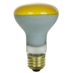 50R20FL/YELLOW/130V YELLOW R20 FLOOD E26 BASE, 50R20FL-YELLOW, YELLOW 50 WATT R20 FLOOD MEDIUM BASE 130 VOLT