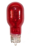 #921R Red Miniature Bulb Glass Wedge Base, T5 WEDGE 12.8V 1.4A 21CP PAINTED RED, 921R, #921R, #921R BULB, #921R LAMP, #921R MINIATURE LAMP, #921R INDICATOR, PAINTED RED #921, #921 RED